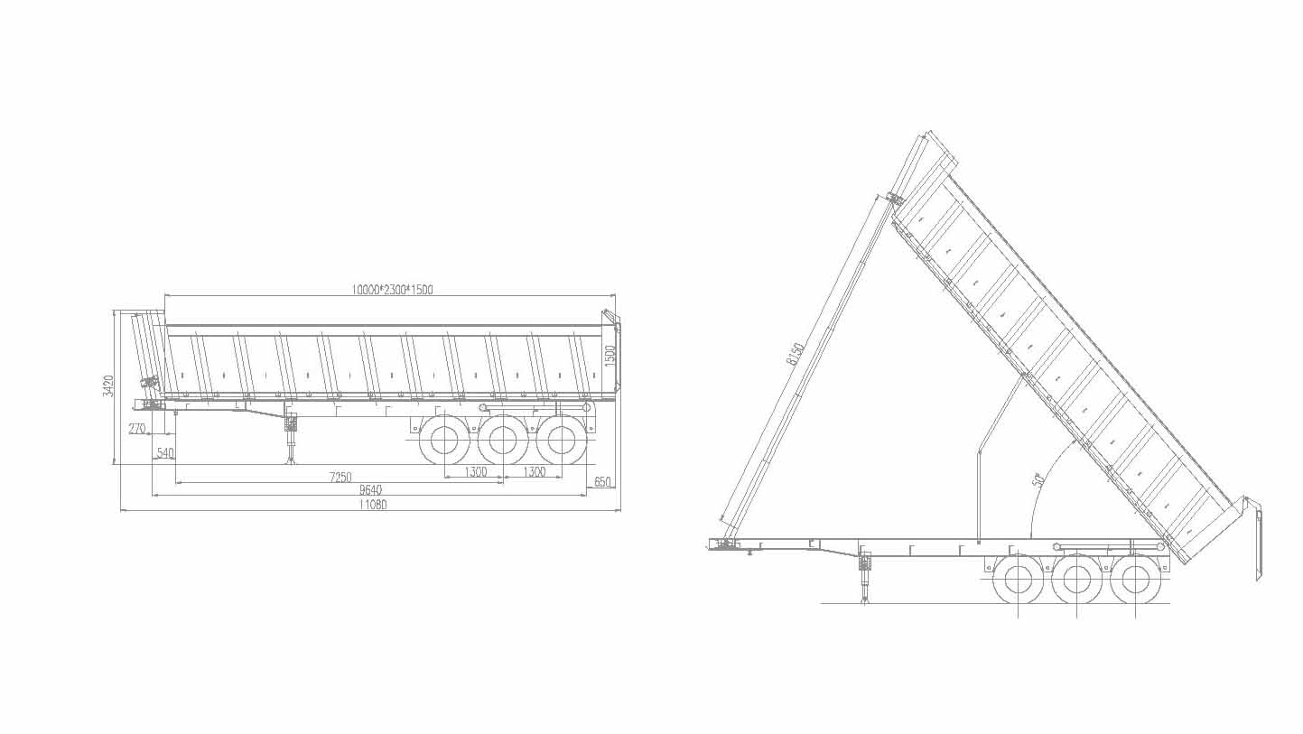 Dump Trailer Drawing